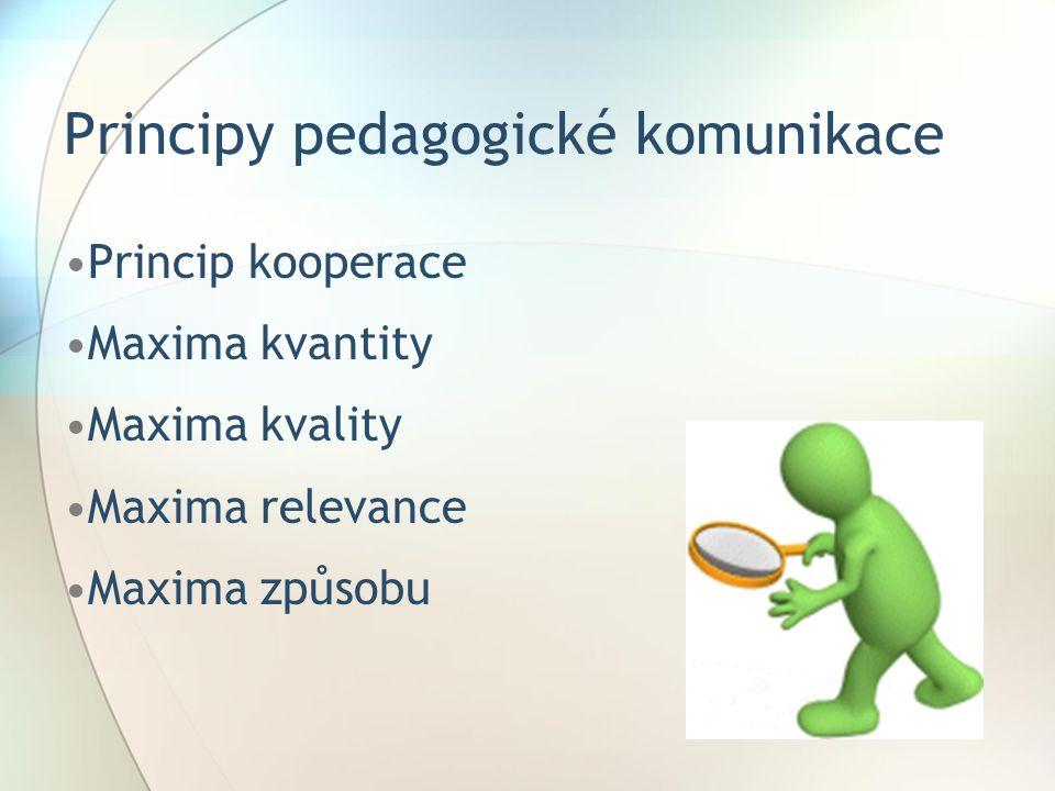 Principy pedagogické komunikace