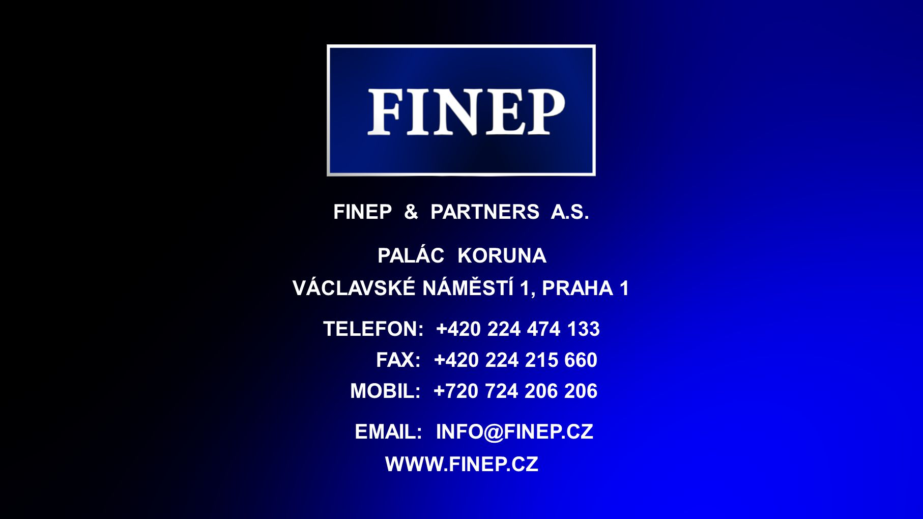 FINEP & PARTNERS A.S.