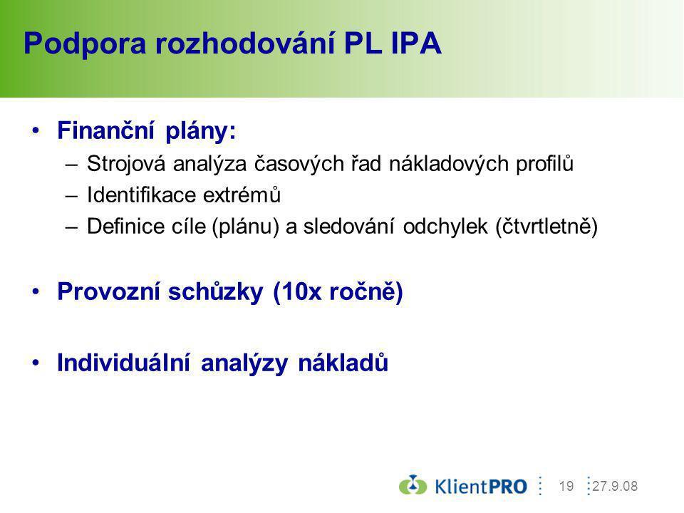 Podpora rozhodování PL IPA