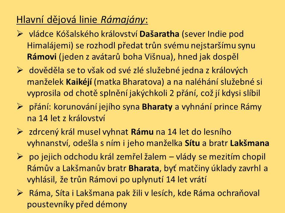 Hlavní dějová linie Rámajány:
