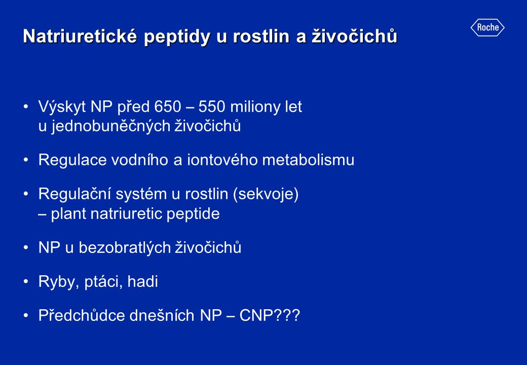 Natriuretické peptidy u rostlin a živočichů