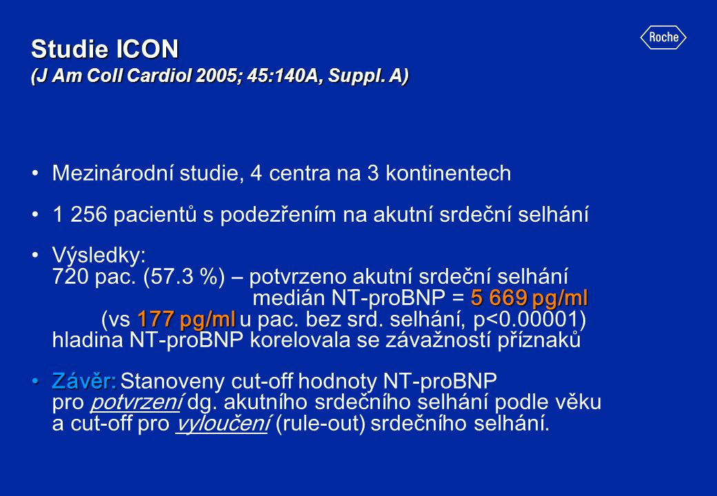 Studie ICON (J Am Coll Cardiol 2005; 45:140A, Suppl. A)