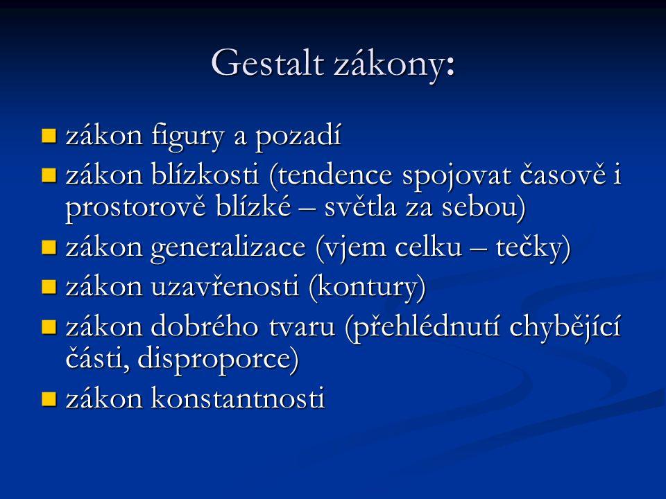 Gestalt zákony: zákon figury a pozadí