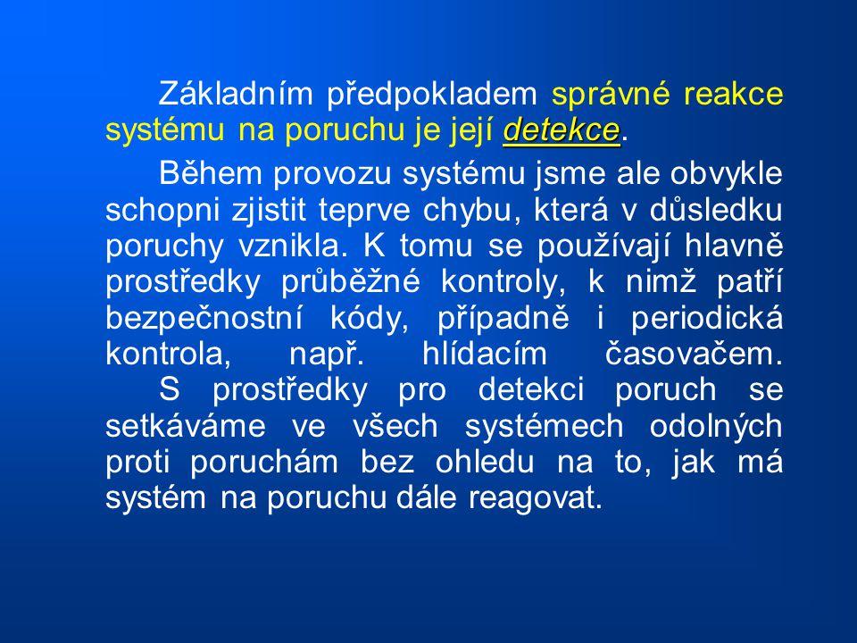 Základním předpokladem správné reakce systému na poruchu je její detekce.