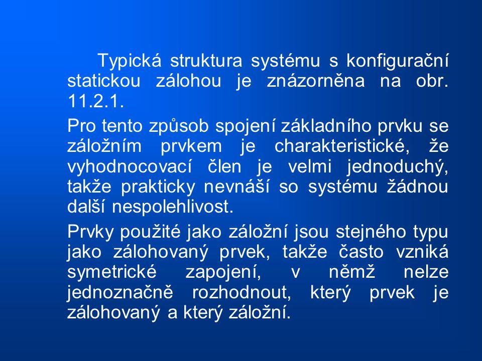 Typická struktura systému s konfigurační statickou zálohou je znázorněna na obr. 11.2.1.