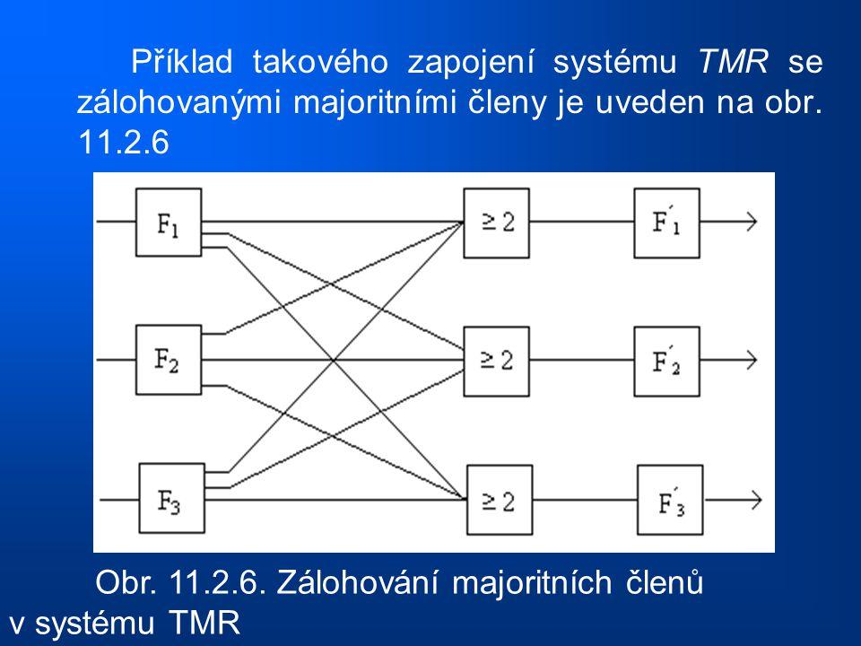 Příklad takového zapojení systému TMR se zálohovanými majoritními členy je uveden na obr. 11.2.6