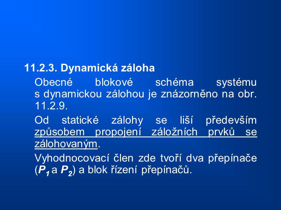 11.2.3. Dynamická záloha Obecné blokové schéma systému s dynamickou zálohou je znázorněno na obr. 11.2.9.