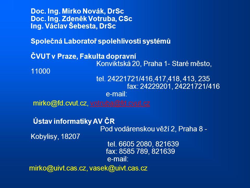 mirko@fd.cvut.cz, votruba@fd.cvut.cz