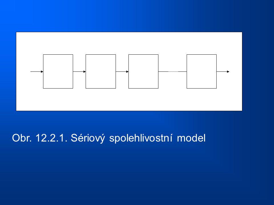 Obr. 12.2.1. Sériový spolehlivostní model
