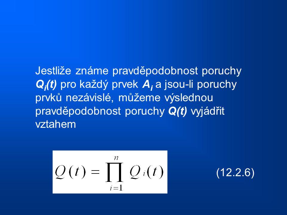 Jestliže známe pravděpodobnost poruchy Qi(t) pro každý prvek Ai a jsou-li poruchy prvků nezávislé, můžeme výslednou pravděpodobnost poruchy Q(t) vyjádřit vztahem