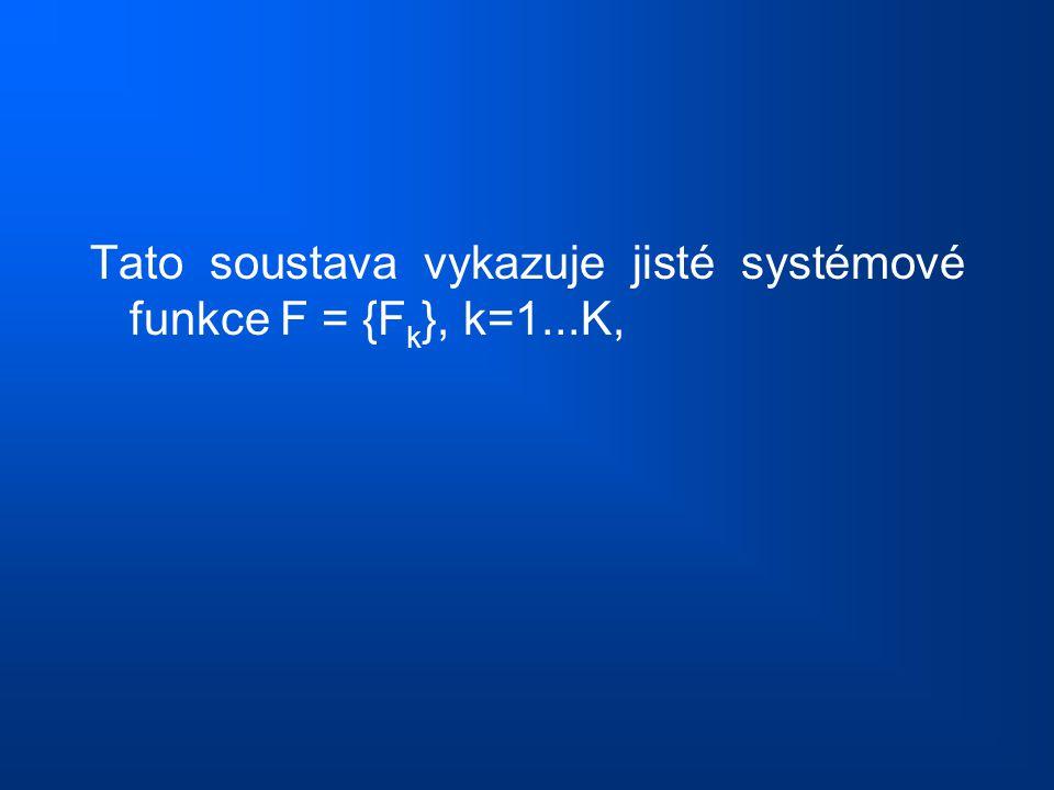 Tato soustava vykazuje jisté systémové funkce F = {Fk}, k=1...K,