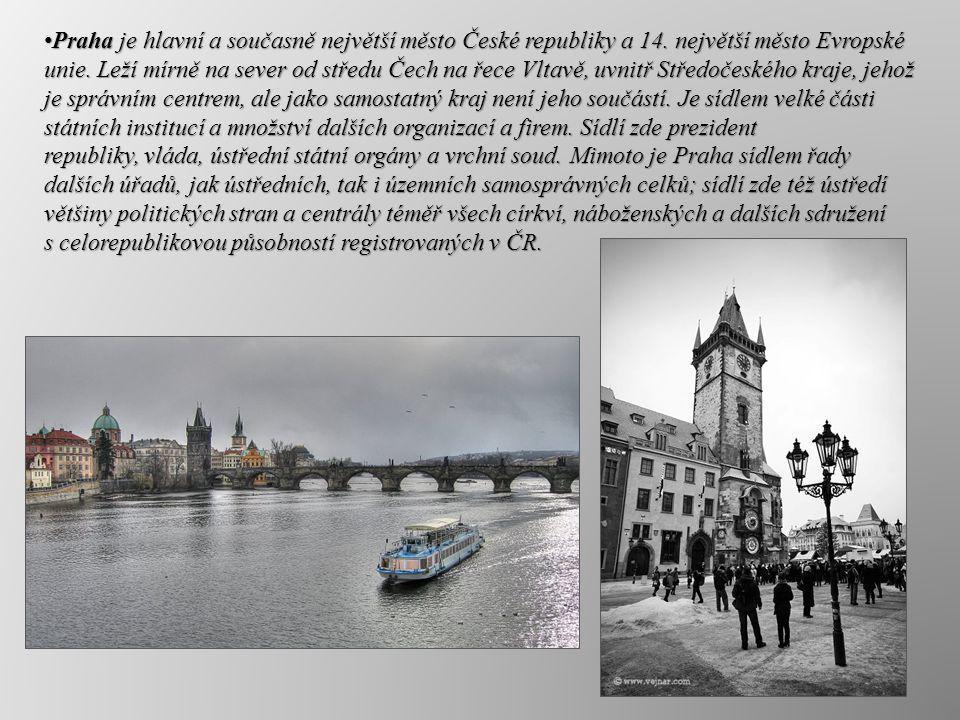 Praha je hlavní a současně největší město České republiky a 14