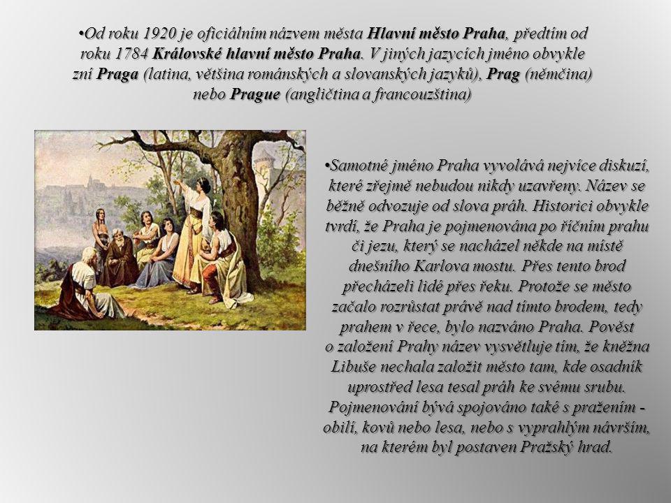 Od roku 1920 je oficiálním názvem města Hlavní město Praha, předtím od roku 1784 Královské hlavní město Praha. V jiných jazycích jméno obvykle zní Praga (latina, většina románských a slovanských jazyků), Prag (němčina) nebo Prague (angličtina a francouzština)
