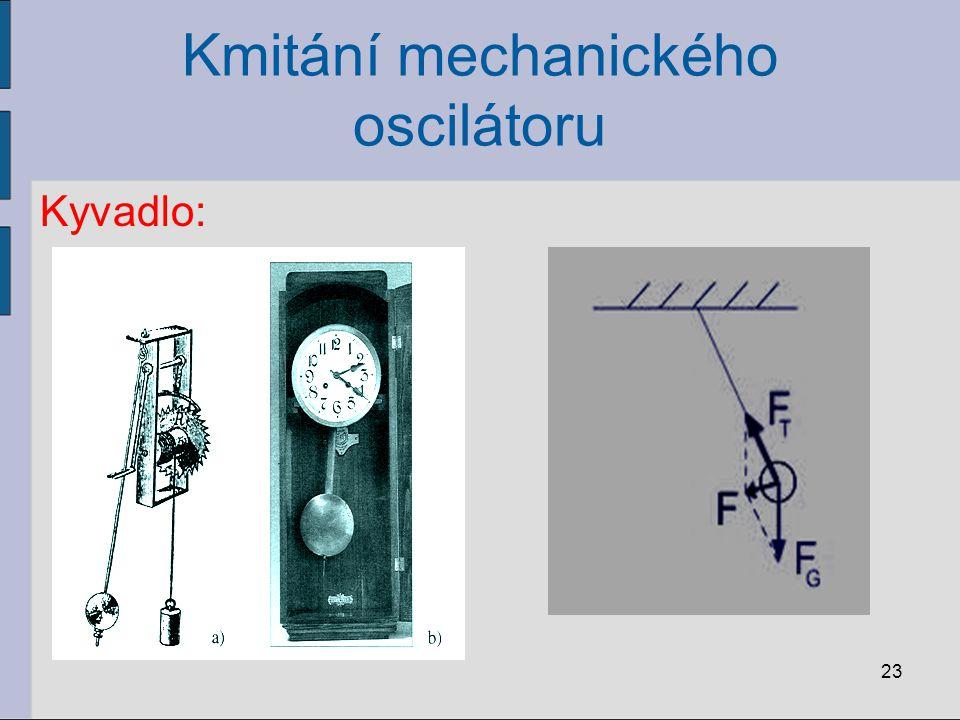 Kmitání mechanického oscilátoru