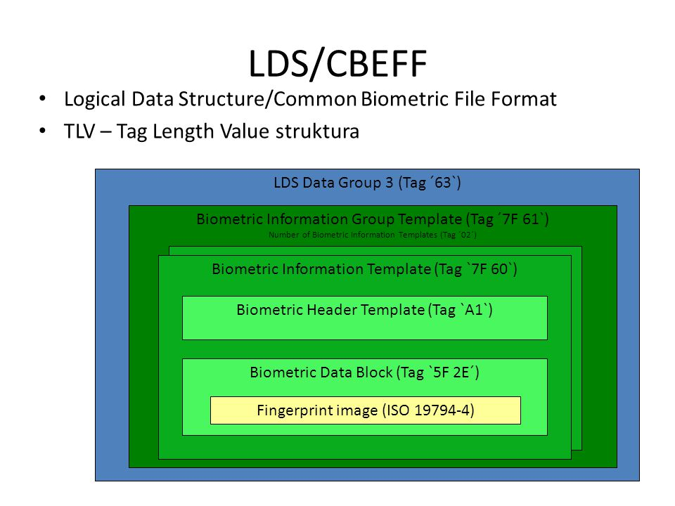 LDS/CBEFF Logical Data Structure/Common Biometric File Format