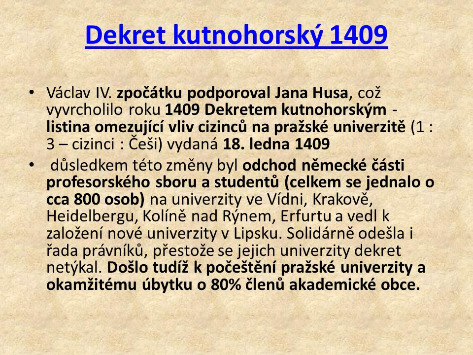 Dekret kutnohorský 1409