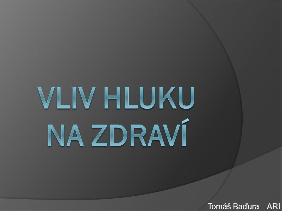 VLIV HLUKU NA ZDRAVÍ Tomáš Baďura ARI