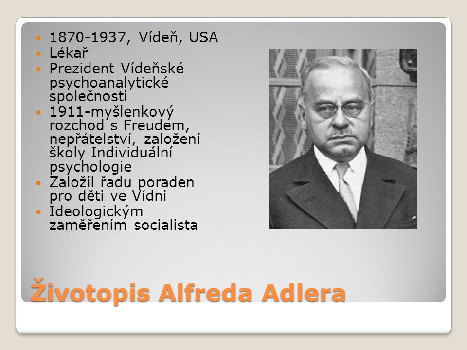 Životopis Alfreda Adlera