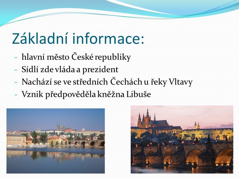 Základní informace: hlavní město České republiky
