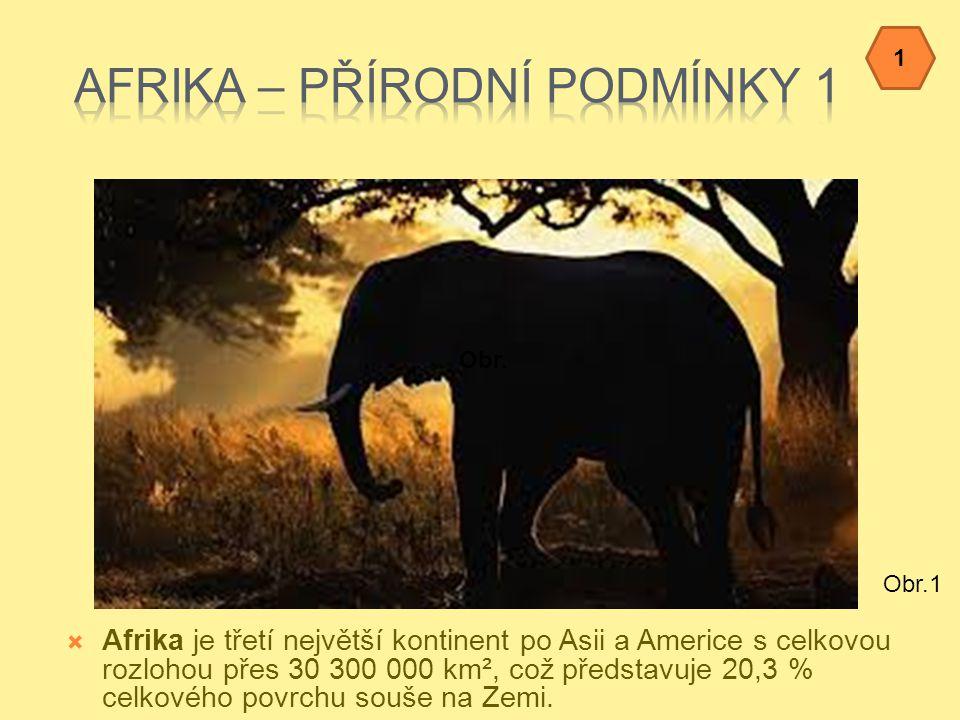 Afrika – přírodní podmínky 1