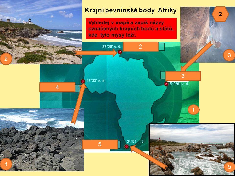 Krajní pevninské body Afriky