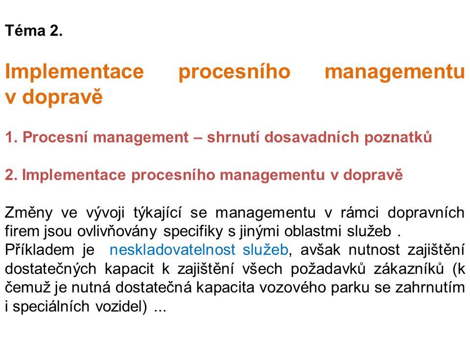 Implementace procesního managementu v dopravě