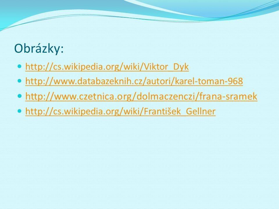 Obrázky: http://www.czetnica.org/dolmaczenczi/frana-sramek