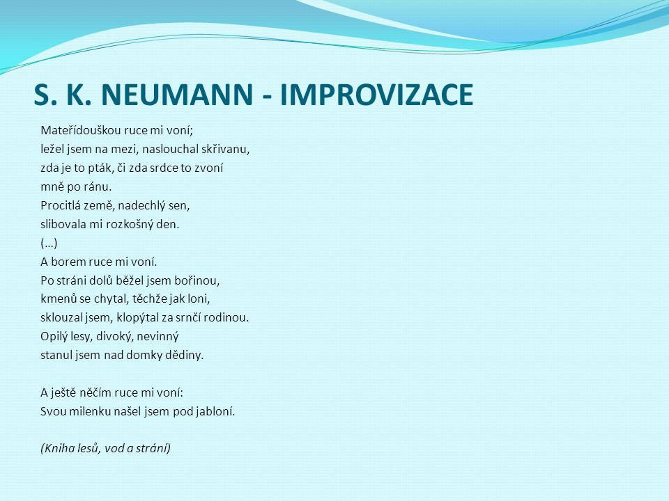 S. K. NEUMANN - IMPROVIZACE