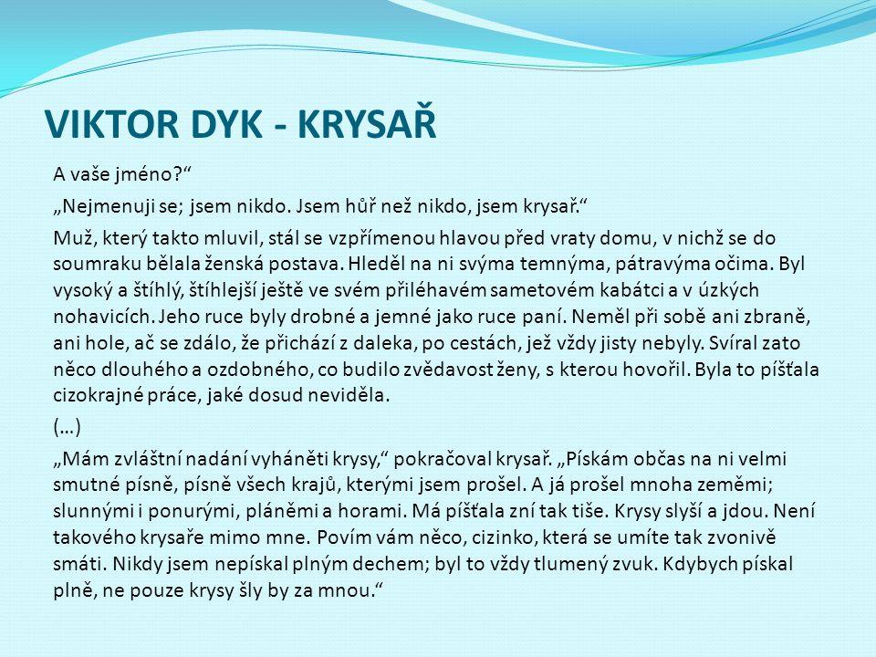 VIKTOR DYK - KRYSAŘ