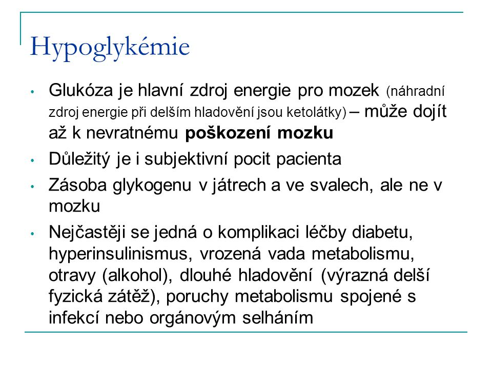 Hypoglykémie