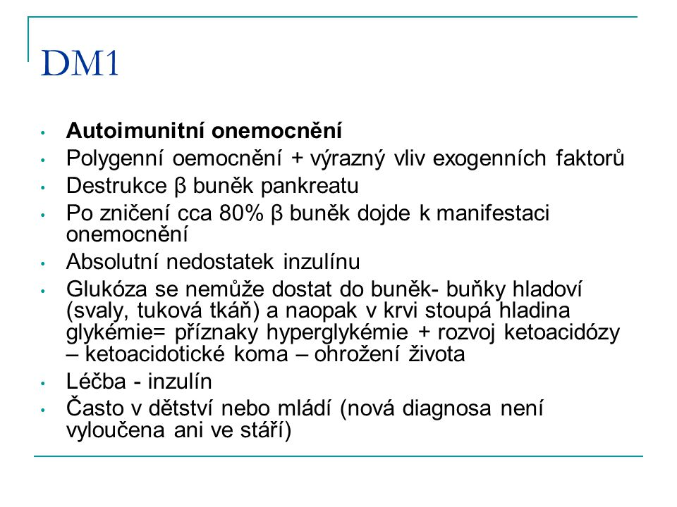 DM1 Autoimunitní onemocnění