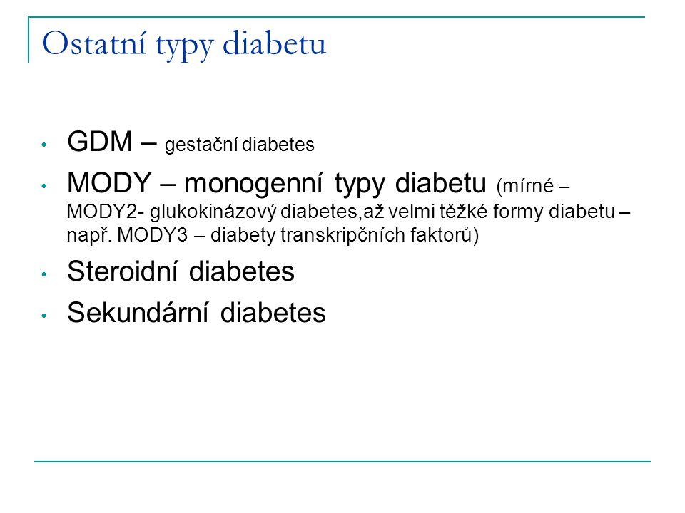Ostatní typy diabetu GDM – gestační diabetes