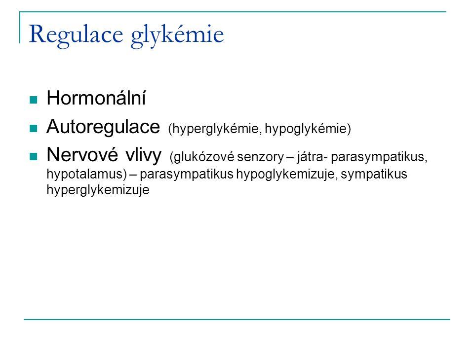 Regulace glykémie Hormonální