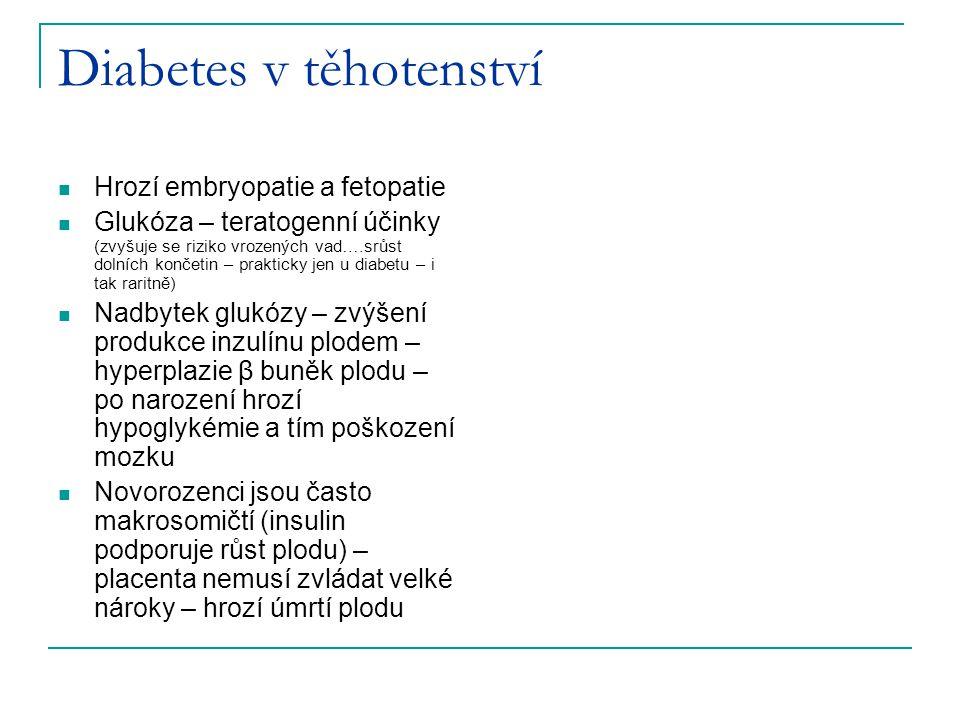 Diabetes v těhotenství