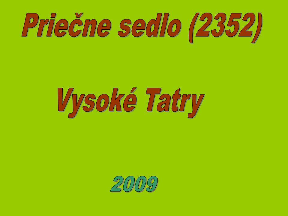 Priečne sedlo (2352) Vysoké Tatry