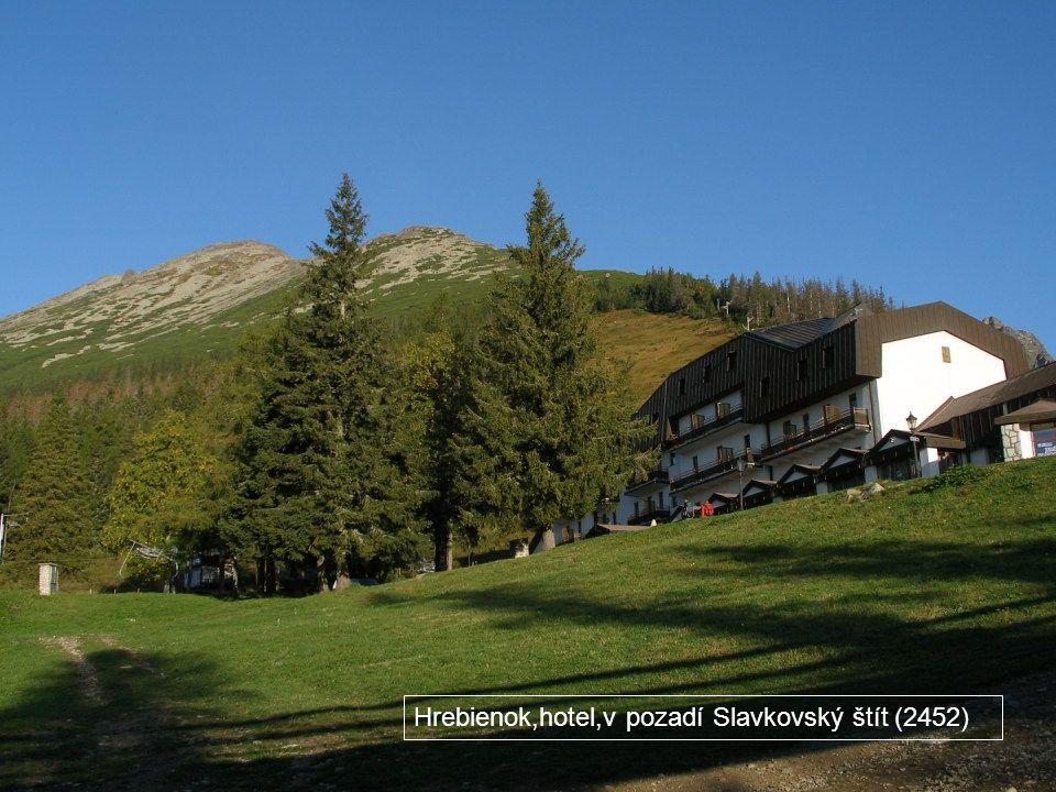 Hrebienok,hotel,v pozadí Slavkovský štít (2452)