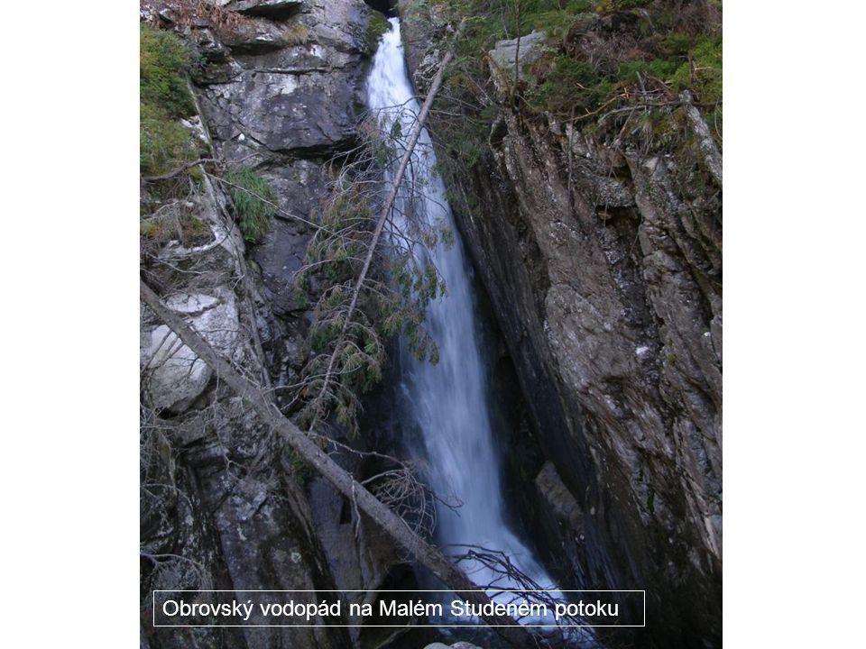 Obrovský vodopád na Malém Studeném potoku