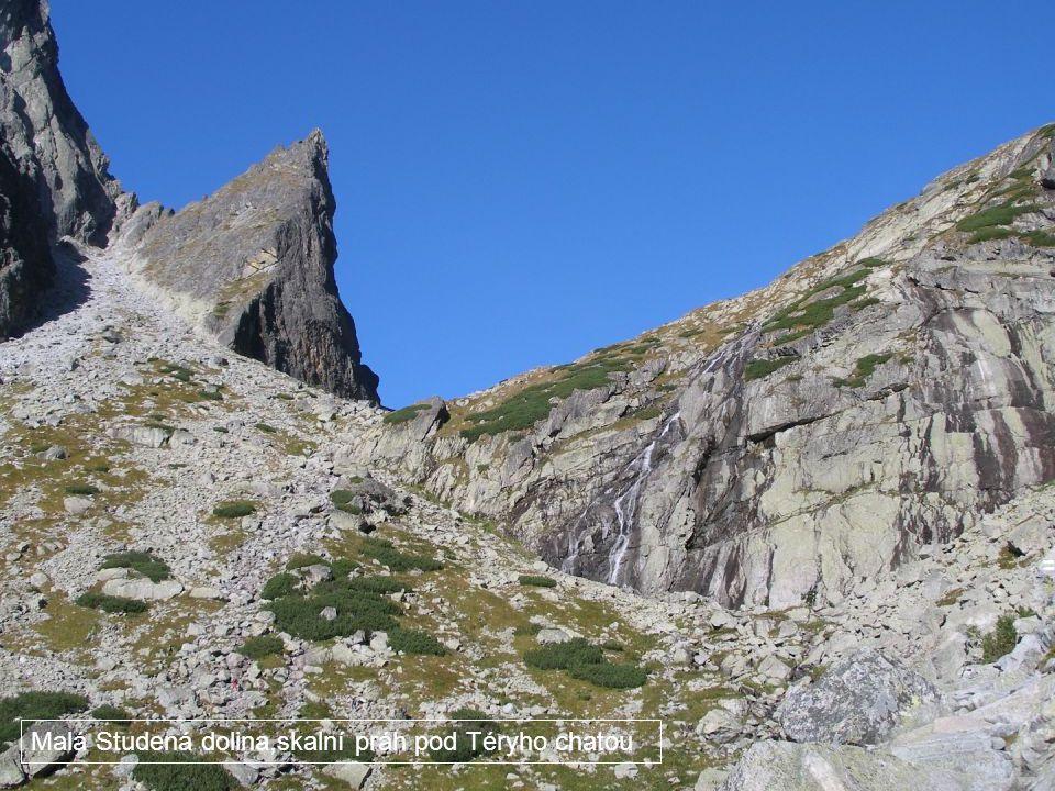 Malá Studená dolina,skalní práh pod Téryho chatou