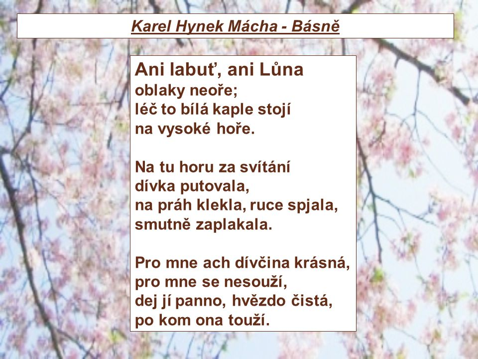 Karel Hynek Mácha - Básně