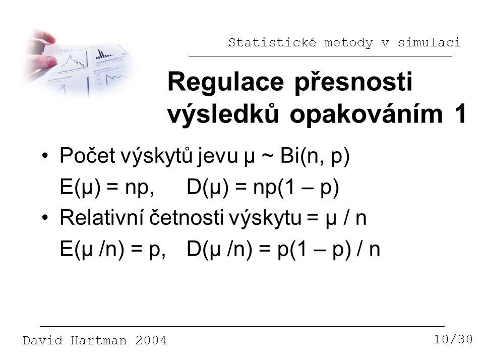Regulace přesnosti výsledků opakováním 1