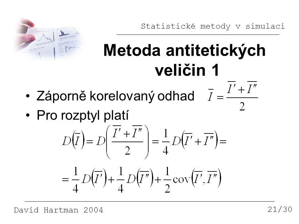 Metoda antitetických veličin 1