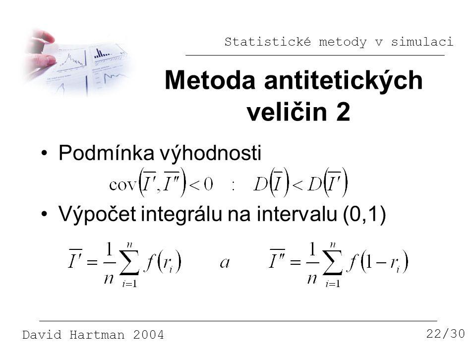 Metoda antitetických veličin 2
