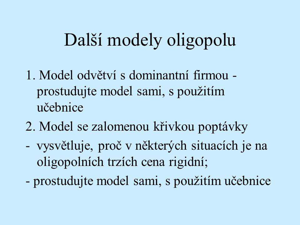 Další modely oligopolu