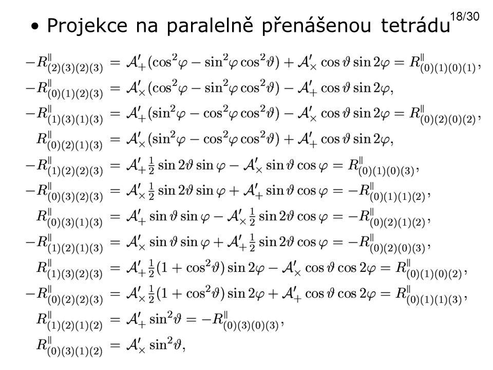 Projekce na paralelně přenášenou tetrádu