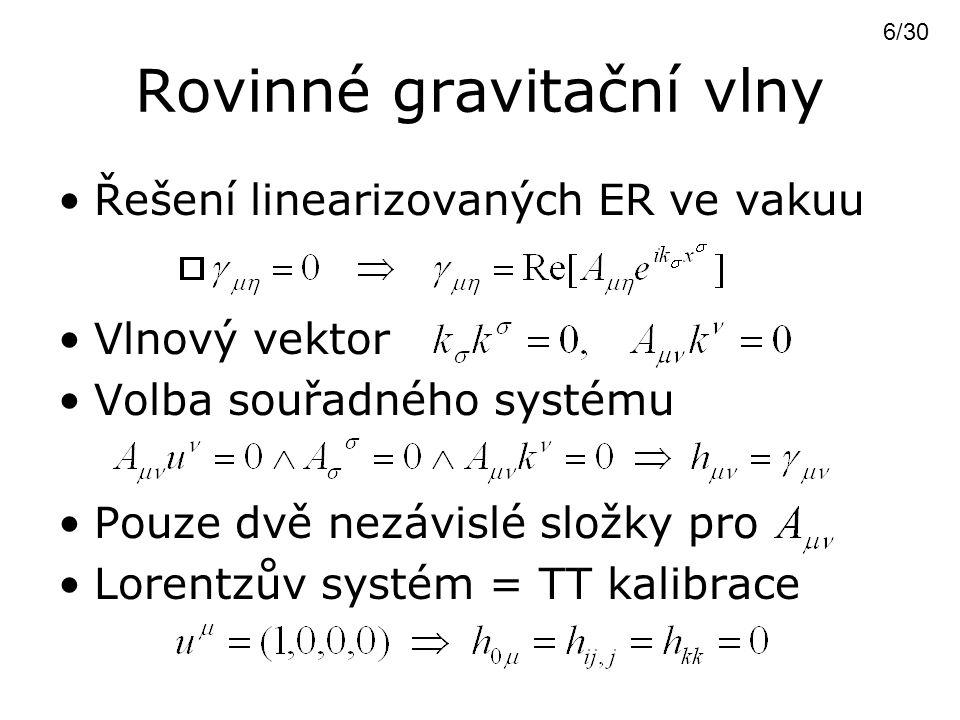 Rovinné gravitační vlny