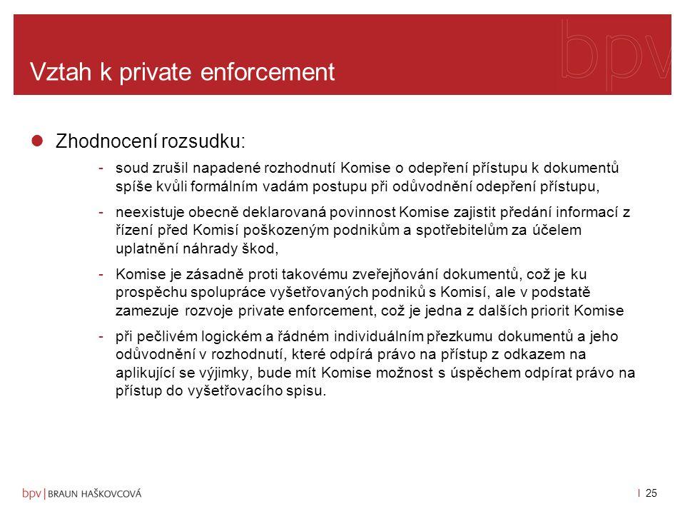 Vztah k private enforcement