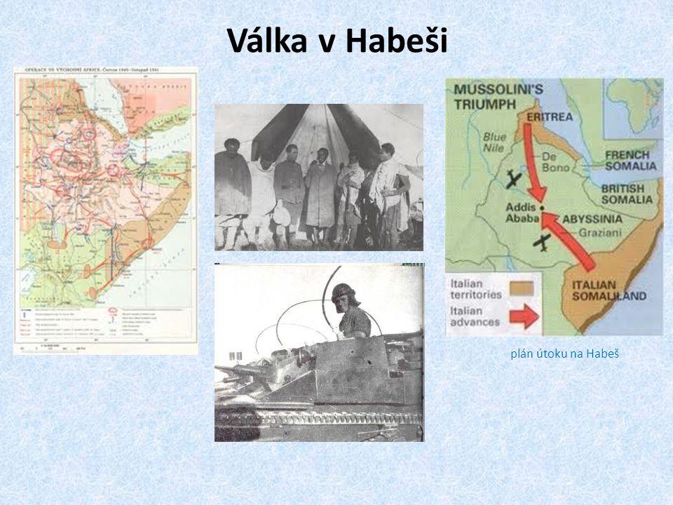 Válka v Habeši plán útoku na Habeš