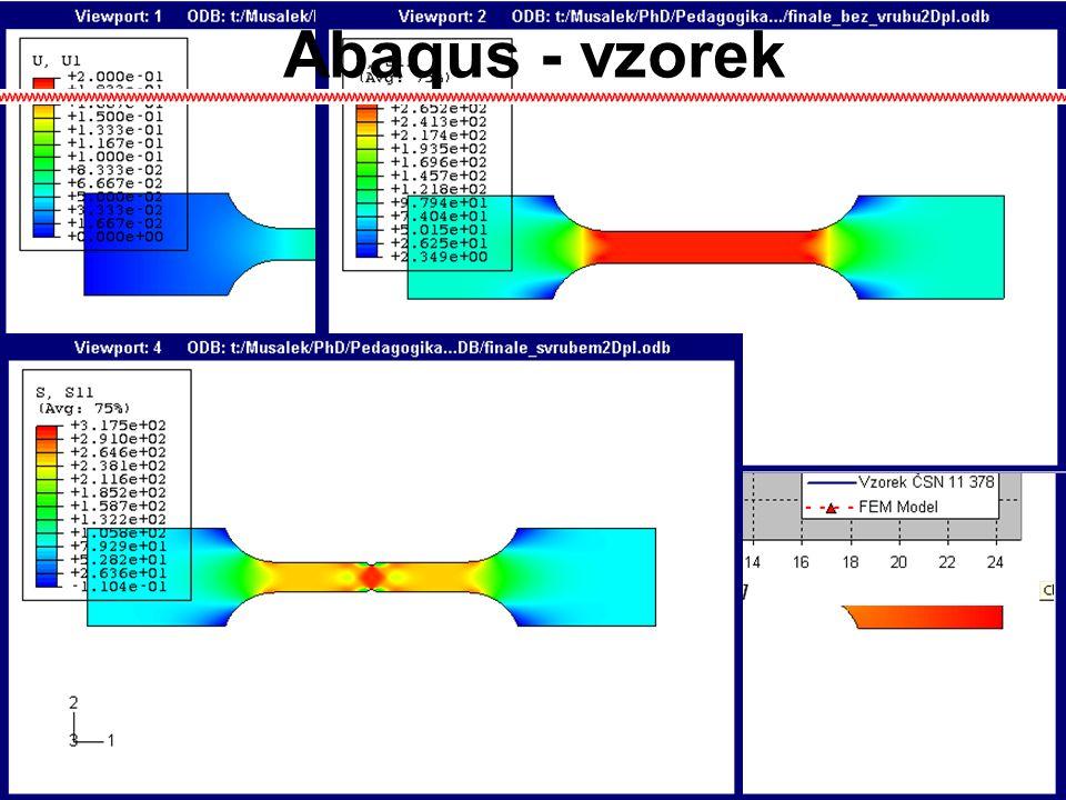 Abaqus - vzorek