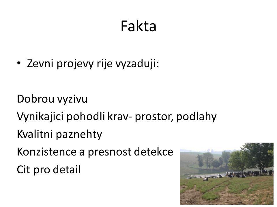 Fakta Zevni projevy rije vyzaduji: Dobrou vyzivu