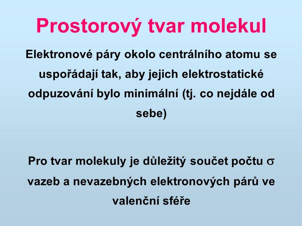 Prostorový tvar molekul